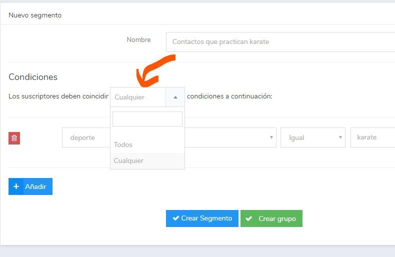segmentación de contactos newsletter