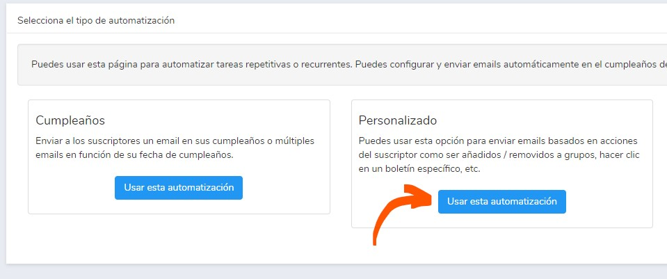 automatismos y autorespondedores email marketing
