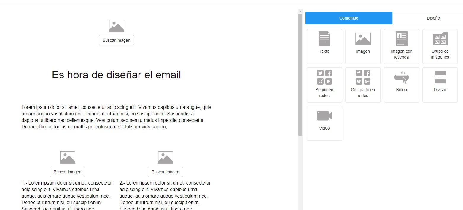 editor de newsletters gratuito