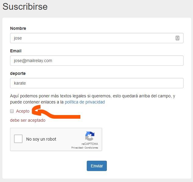 formularios de suscripción v3