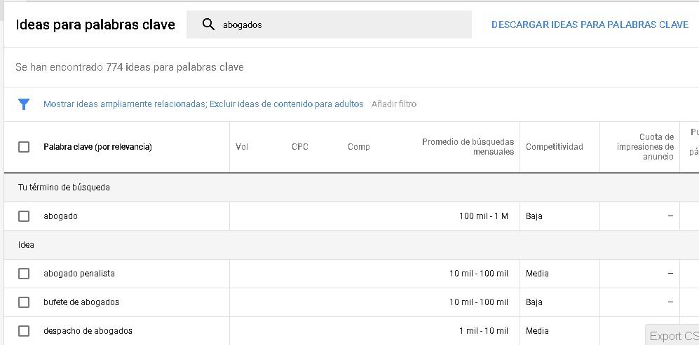 """Encontrar """"long tails"""" utilizando el Planificador de palabras clave de Google Ads"""