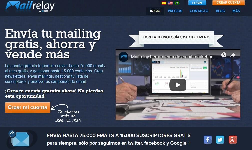 mailrelay cuenta gratuita