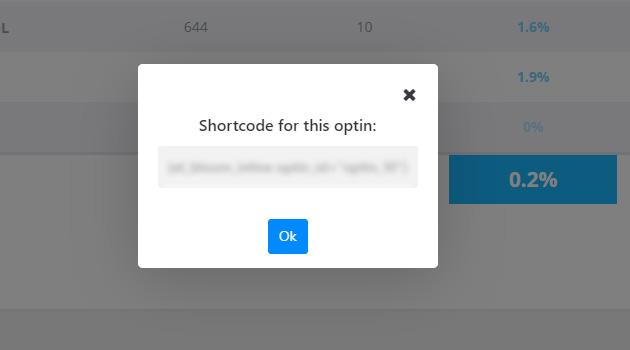 ventana con el shortcode