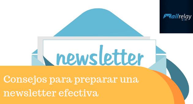Consejos para preparar una newsletter efectiva