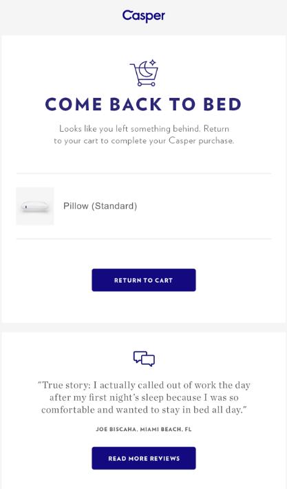 Email del carrito abandonado