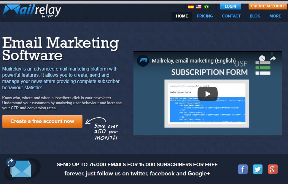 Mailrelay v3 how to send more emails for free, social media