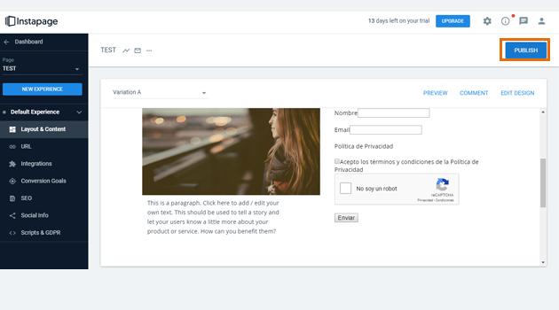 Cómo añadir un formulario de suscripción a una landing page fuera de WordPress