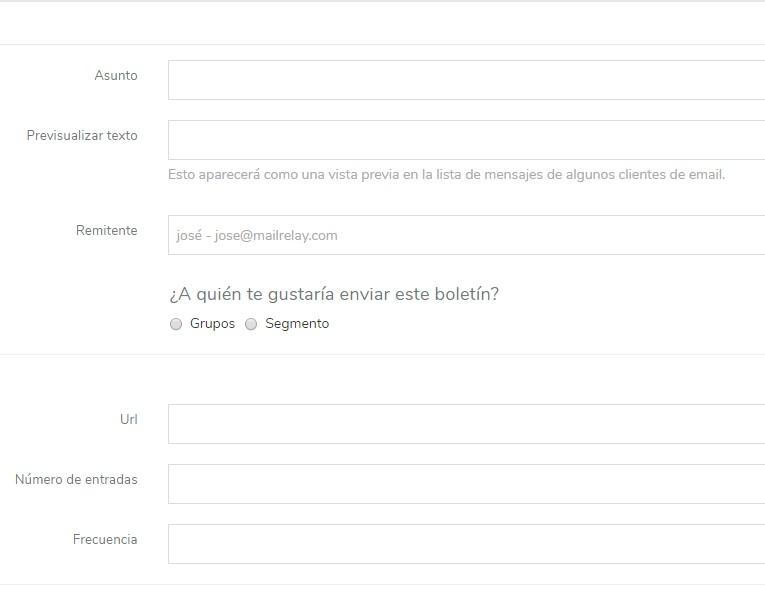 configuración de un mailing gratis RSS