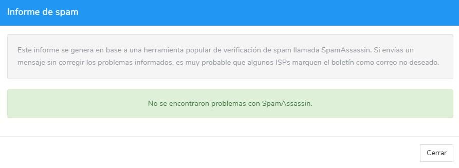 informe de spam, spamassassin