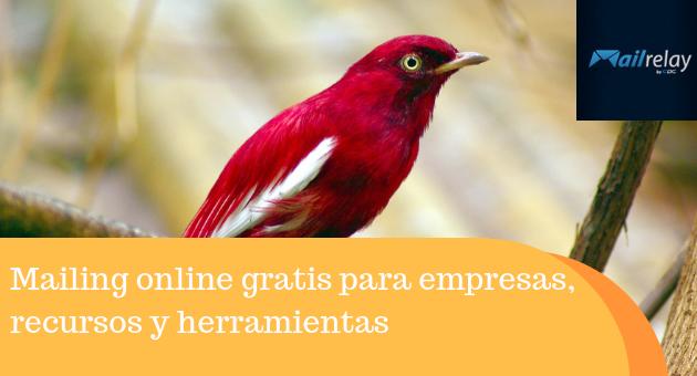 Mailing online gratis para empresas, recursos y herramientas
