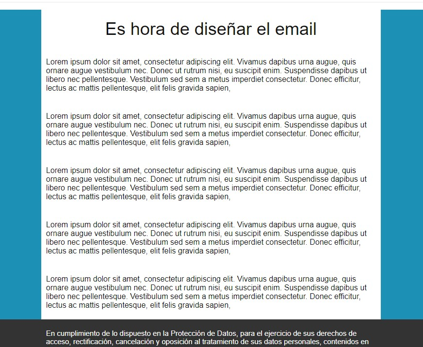 newsletter color de fondo y centro blanco
