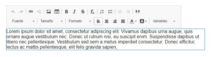 Edición de texto inline