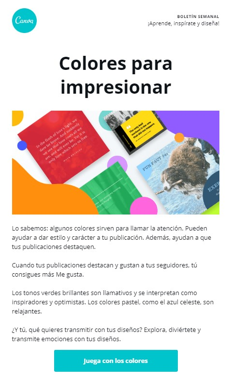 Ejemplo de newsletter: Canva
