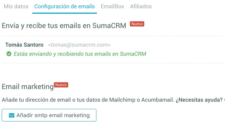 integrar Mailrelay y SumaCRM