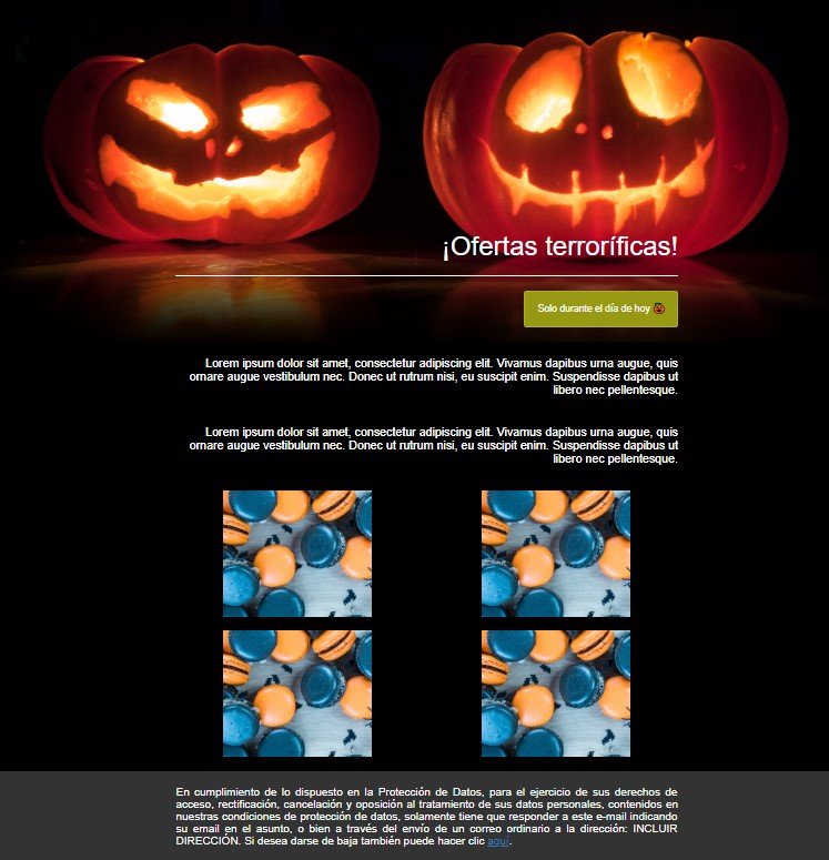 plantilla newsletter halloween