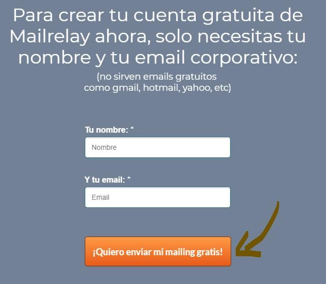 hacer mailing masivo gratis