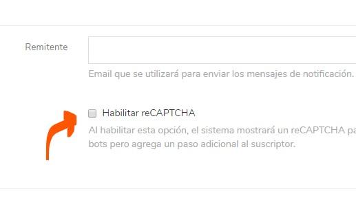 formulario de suscripción con captcha