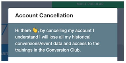 proof account cancellation