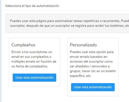 Autorespondedores y automatizaciones