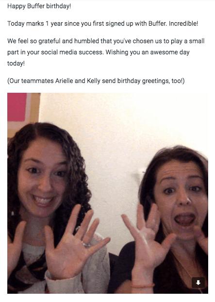 Plantilla de mailing #4: la del aniversario