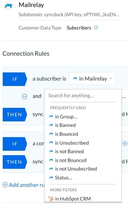 Configurar las reglas de sincronización