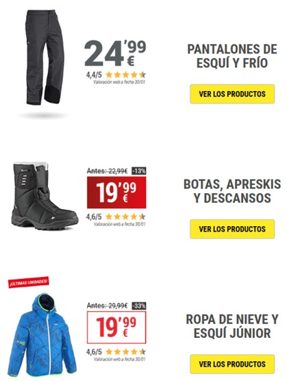 Captura de email marketing de Amazon