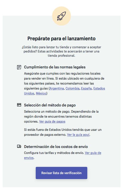 Ejemplo de email transaccional - Shopify