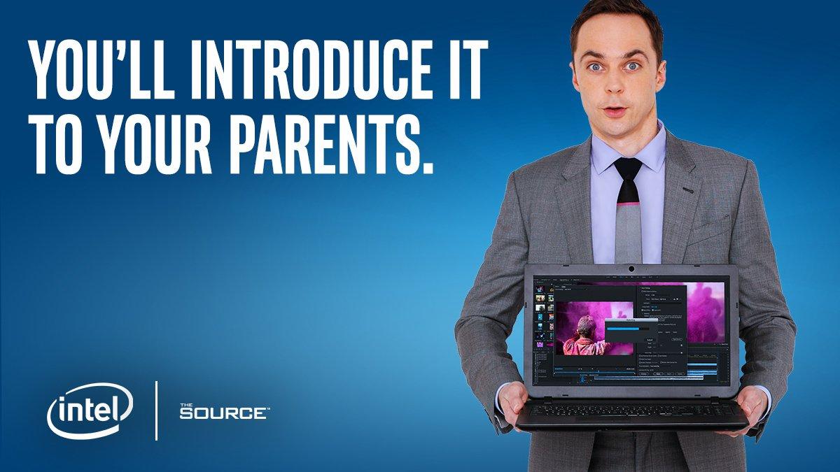 Ejemplo de publicidad display - banner de Intel
