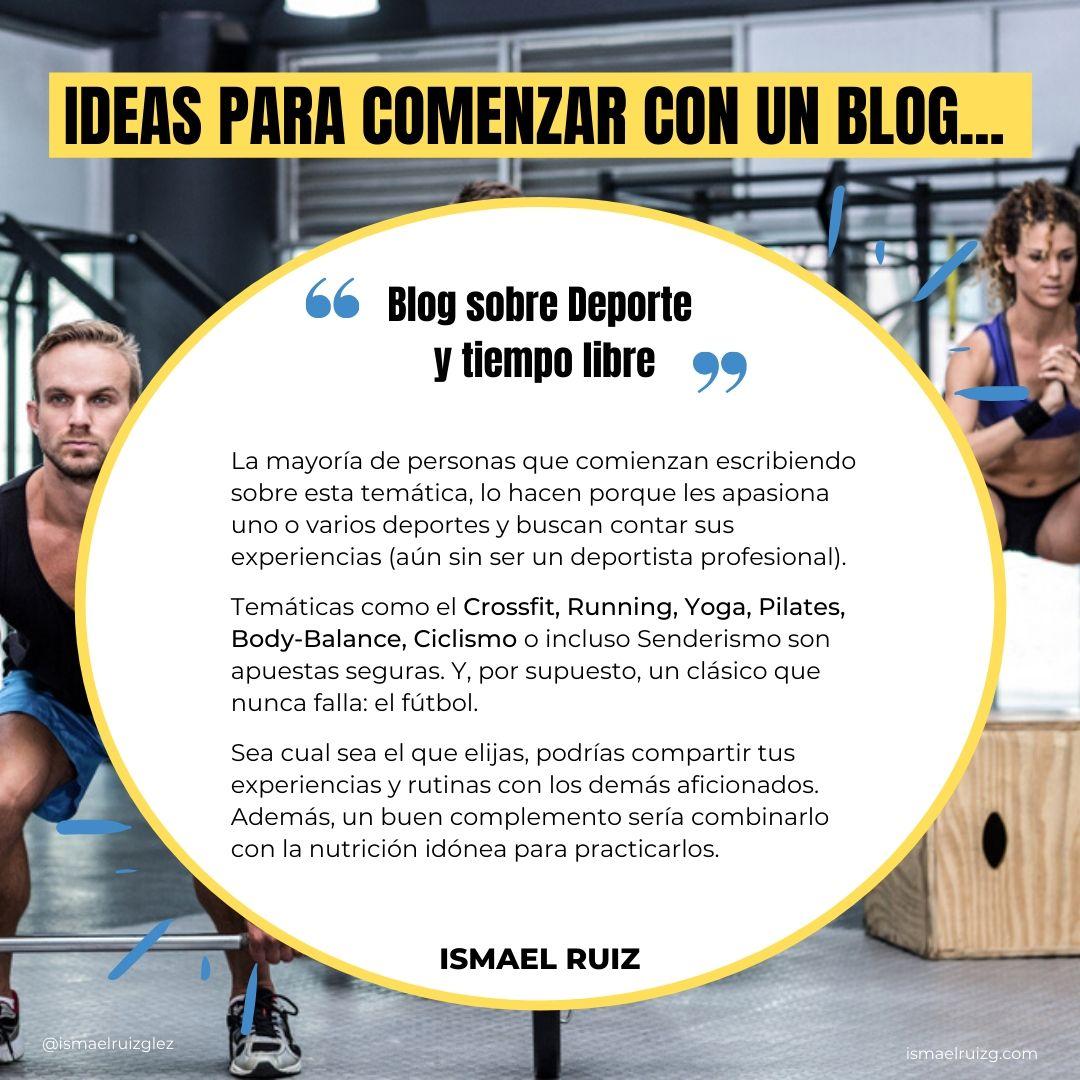 blog sobre deporte