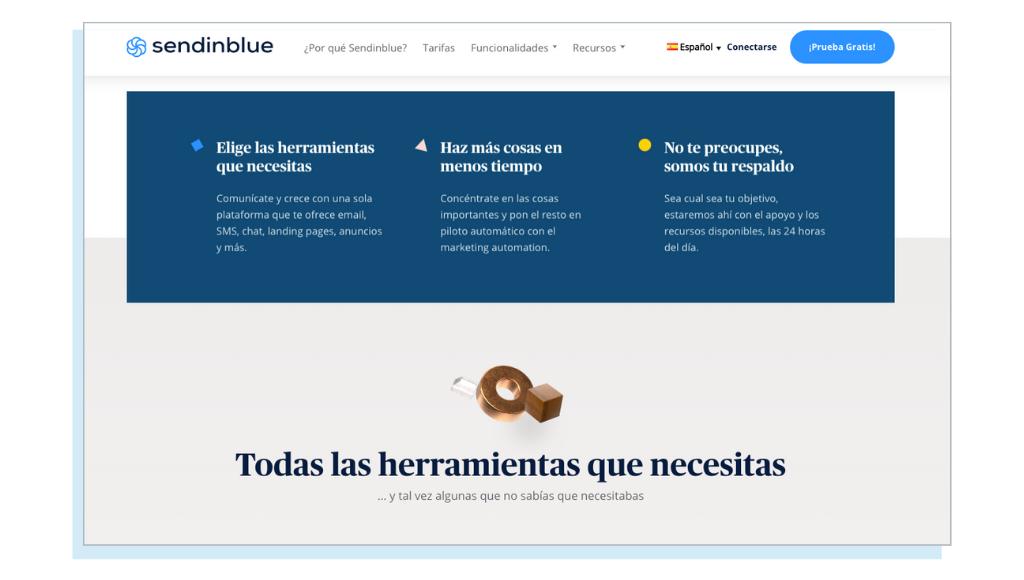 Sendinblue, herramienta de marketing todo en uno y para necesidades básicas de email marketing