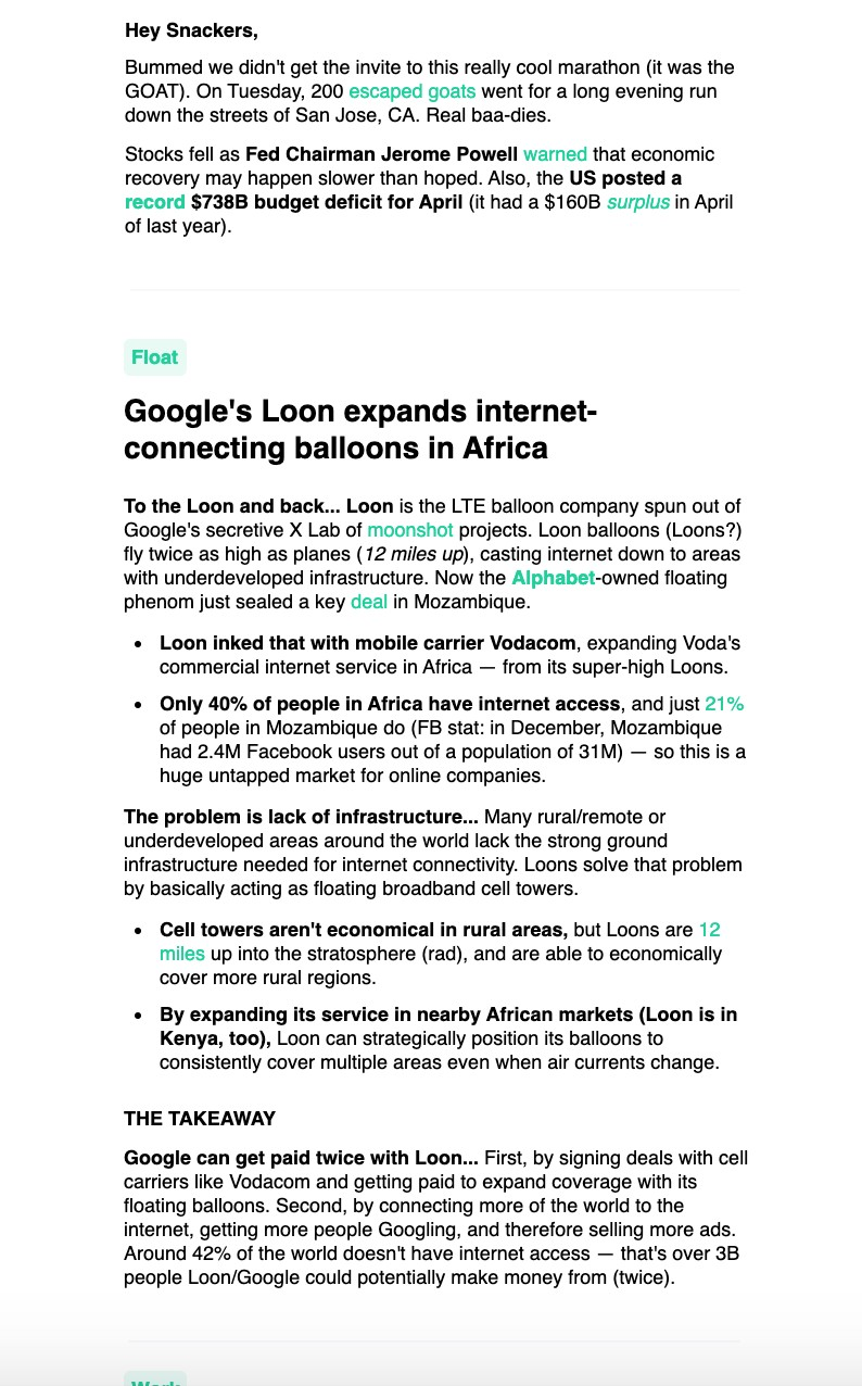 ejemplo de email en texto plano
