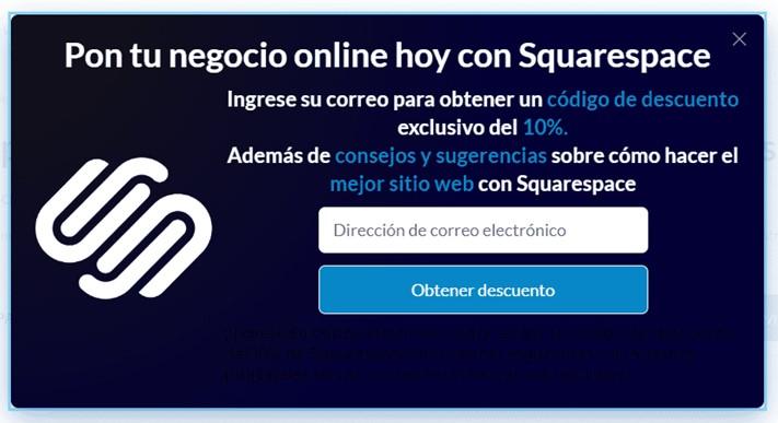 popup squarespace