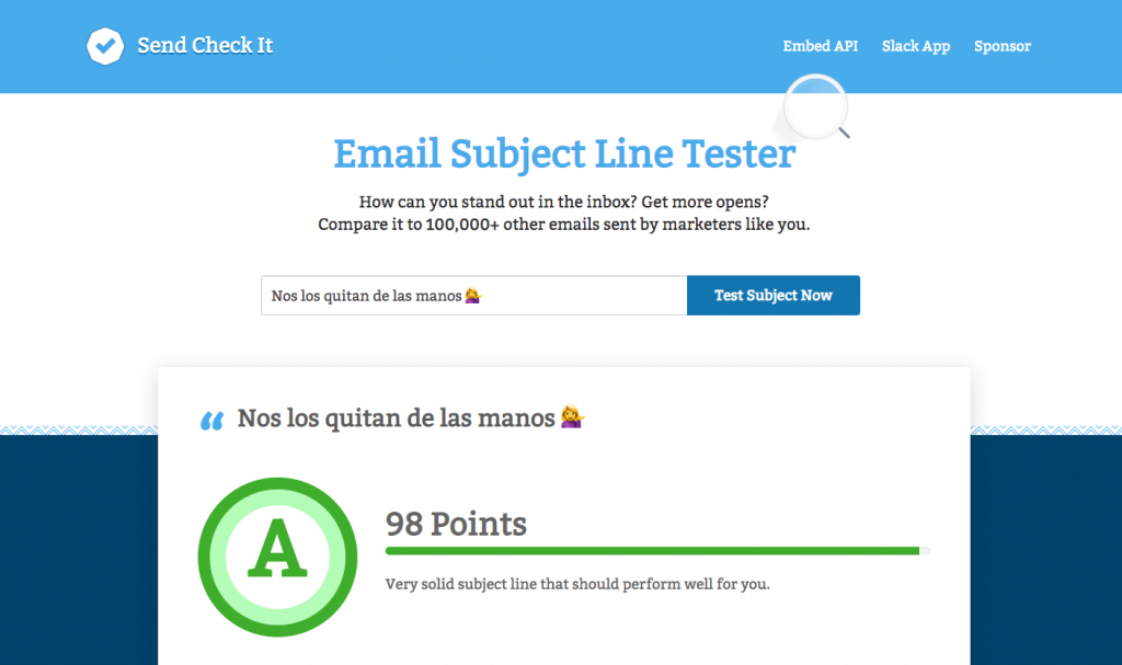 Send Check It: herramienta de email marketing