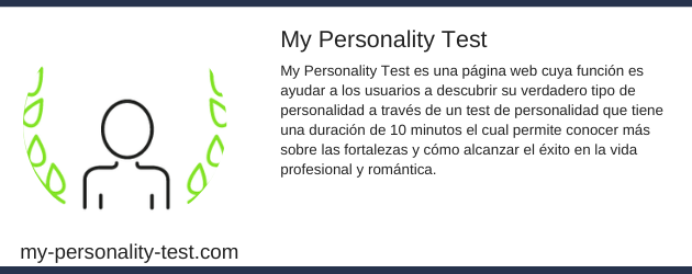 My personality test