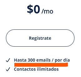 Servicios de email marketing gratis limitaciones de envío diario