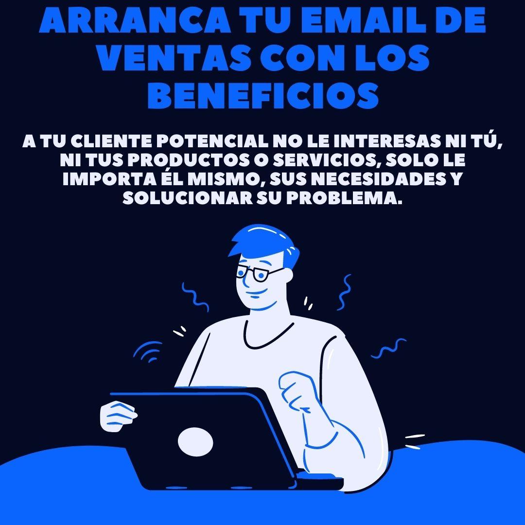 arranca tu email de venta con los beneficios