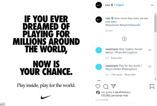 instagram ejemplo de imágenes con texto