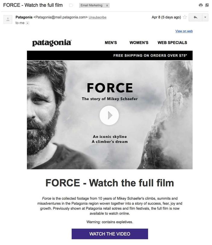ejemplo email patagonia