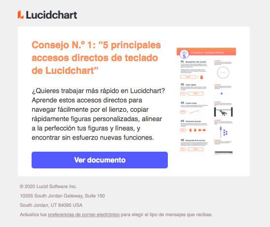Ejemplo de mailing de Lucidchart