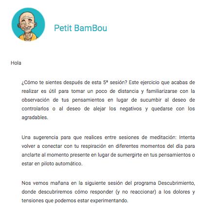 Ejemplo de mailing de Petit Bambou