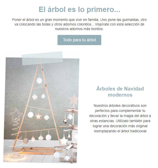 Ejemplo de email marketing emocional: Maisons du Monde