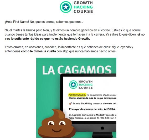 Ejemplo de campaña promocional de GHC