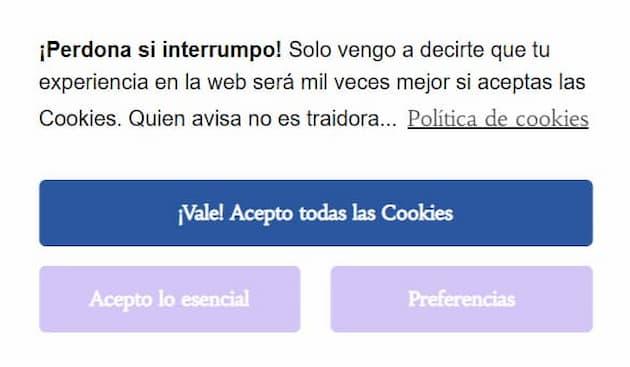 UX writing en la política de cookies