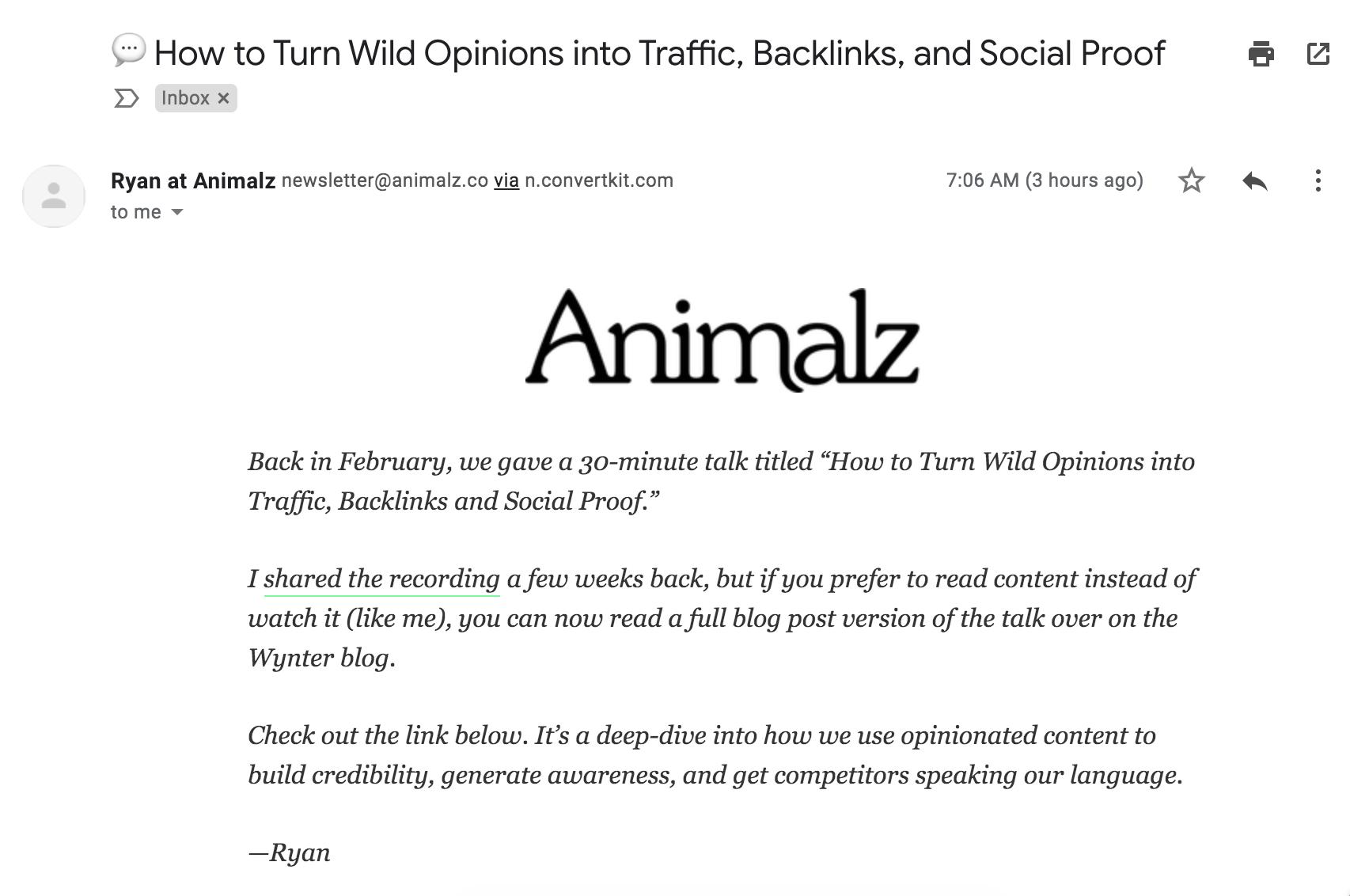 ejemplos de asuntos de newsletters